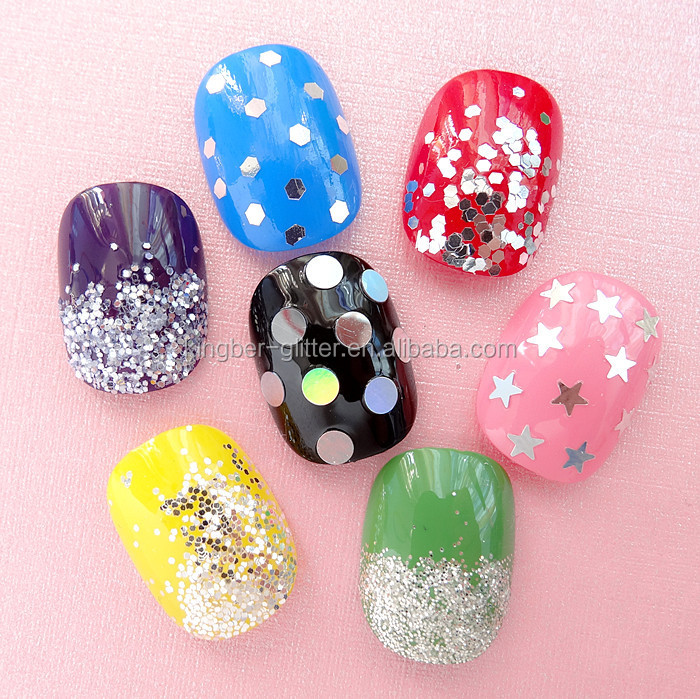 12pcs color glitter powder best quality acrylic nail art powder for nail art dust tip decoration paillette spangles