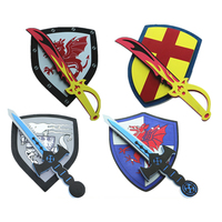 eco-friendly safety eva kids foam swords and shield set
