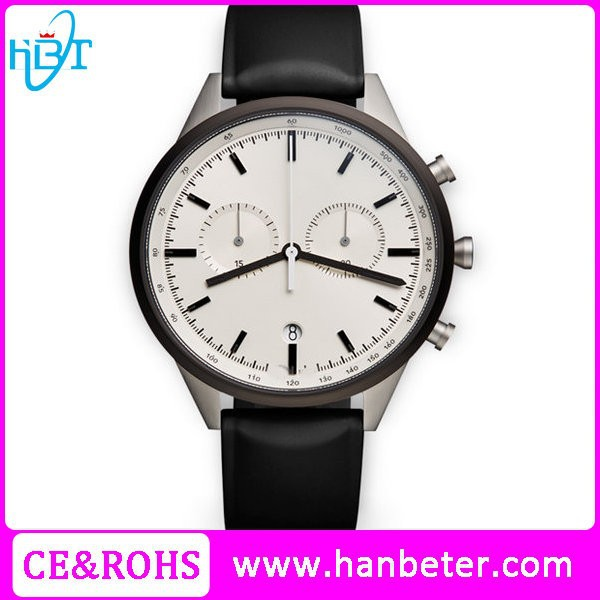 Classic uniform wares minimalist leather watches mens leather watch with japanese movement
