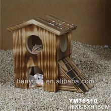 smoked nature wooden cheap rodent cage &house&home