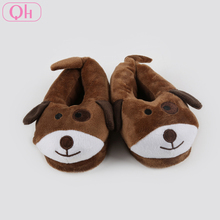 Low price kids house shoes plush cartoon puppy shoes