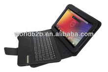 "Bluetooth plastic Keyboard Leather Cover Case for Google Nexus 10"" , back with stand"