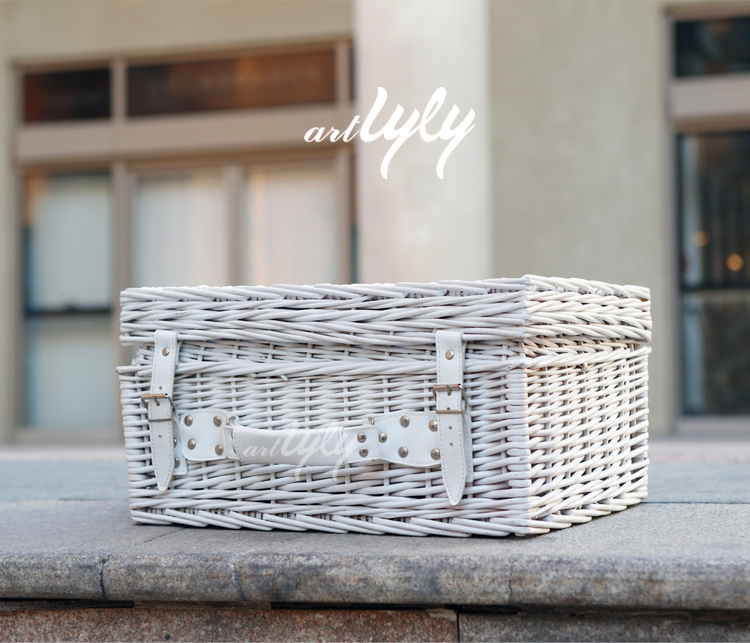 factory supply white picnic basket