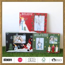 wood christmas colorful scenery picture frame of images printed