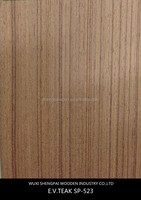 low price teak timber wood laminated engineered mdf recon veneer sheets for door decorative wall