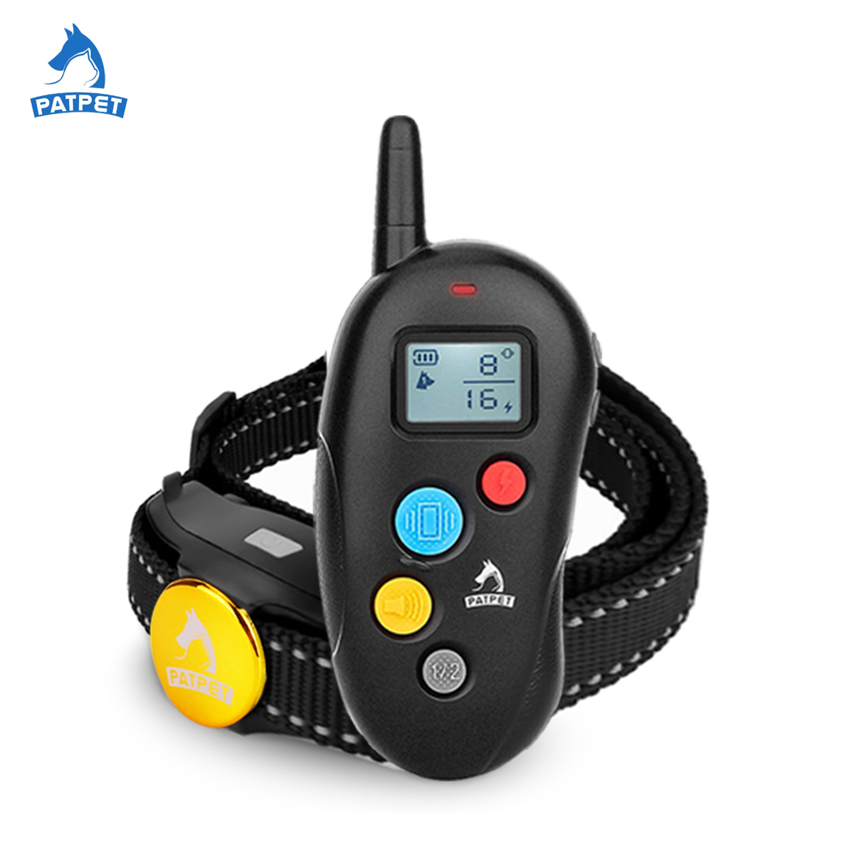 Amazon top selling train set remote control waterproof rechargeable 2 dogs electronic shock training collars