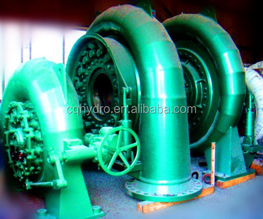 Francis Powered Turbine Generator for Hydropower Plant
