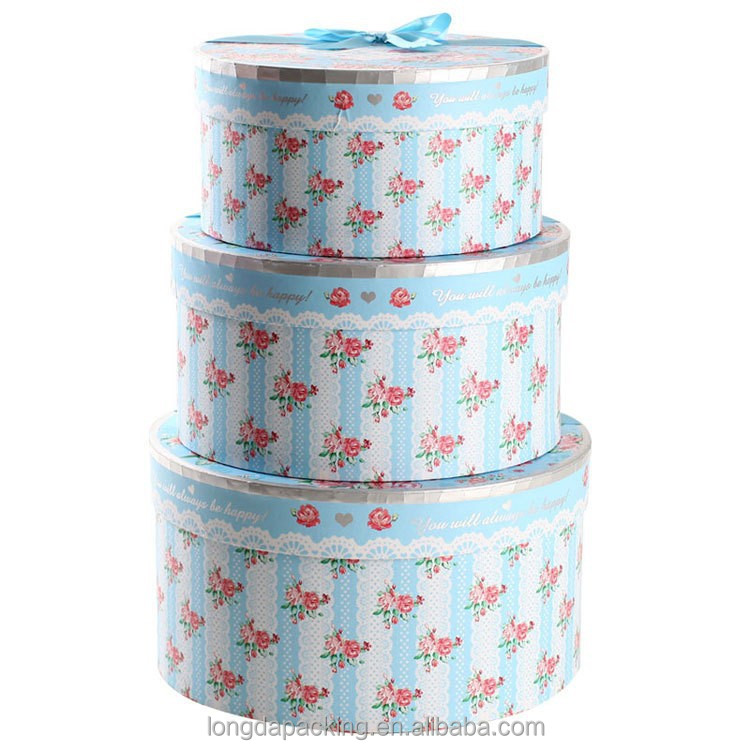 2015 paper shaped round hat boxs with lids.clear large hat boxes