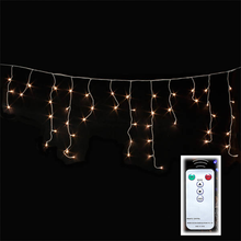 Shopping Mall Decoration Warm White LED Twinkle Icicle Fairy Lights