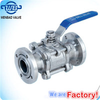 3PC Flanged High Vacuum Pressure Ball