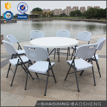 Outdoor&garden plastic furniture folding round folding tables