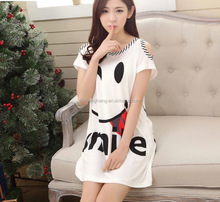 Sexy nighty dress sleeping wear short skirt night dress for women style RP016