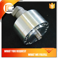 High speed solid rotating hydraulic oil cylinder for pneumatic gripper