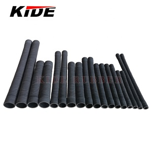 EPDM black radiator hose flexible cloth steel wire spiral reinforced universal rubber flexible radiator hose bellow