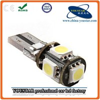 5050 canbus auto leds bulbs White car T10 5050 5SMD
