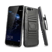 Heavy Duty Slim Shockproof 3 in 1 Hybrid Hard PC Covers Soft Rubber Bumper Protective Case for Huawei P10 Plus