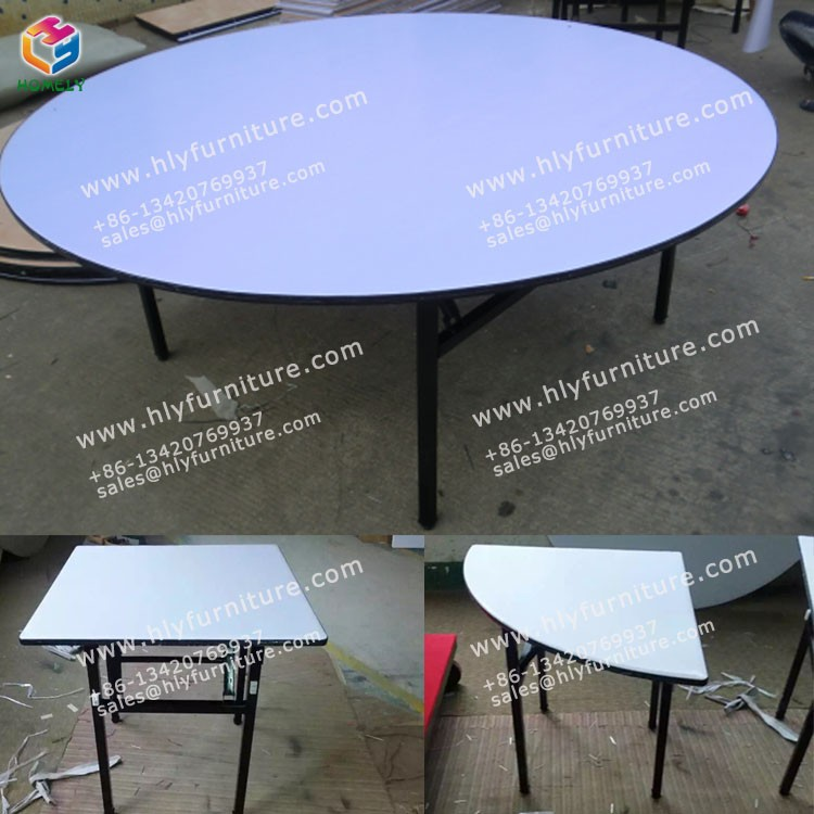 Good Useful Easy Carry Folding PVC Table Dining Table Folding Table in Furniture HLY-P009