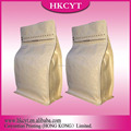 Alibaba china supplier unprinted kraft paper pouch with zipper