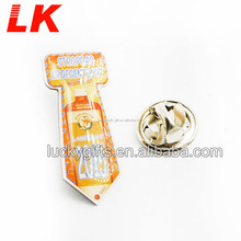Cheap wholesale custom die cast metal lapel pin name badge with logo