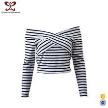 AFF Fashion Cutting Blouse Design 100% Cotton Women Casual New Blouse Designs For Lady