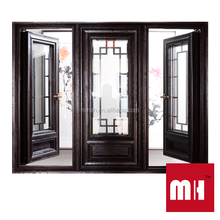 High quality China Style Aluminum wood composite outward opening window