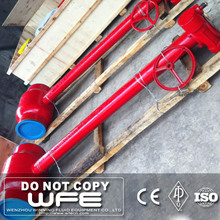 WFE API 6D Worm Gear Actuated Butt welded Fully Welded Long Stem Ball Valve
