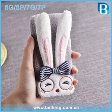 For iPhone 6 Bunny Case Rabbit Ears Stand case for iPhone 7 7 Plus