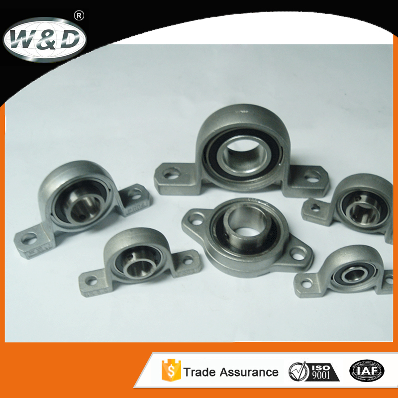 Zinc alloy mounted bearing units silver series precision pillow block bearing