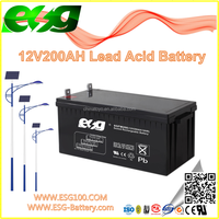 New products Manufacture UPS high rate AGM SLA MF Solar VRLA rechargeable sealed Lead Acid GEL battery 12V200AH