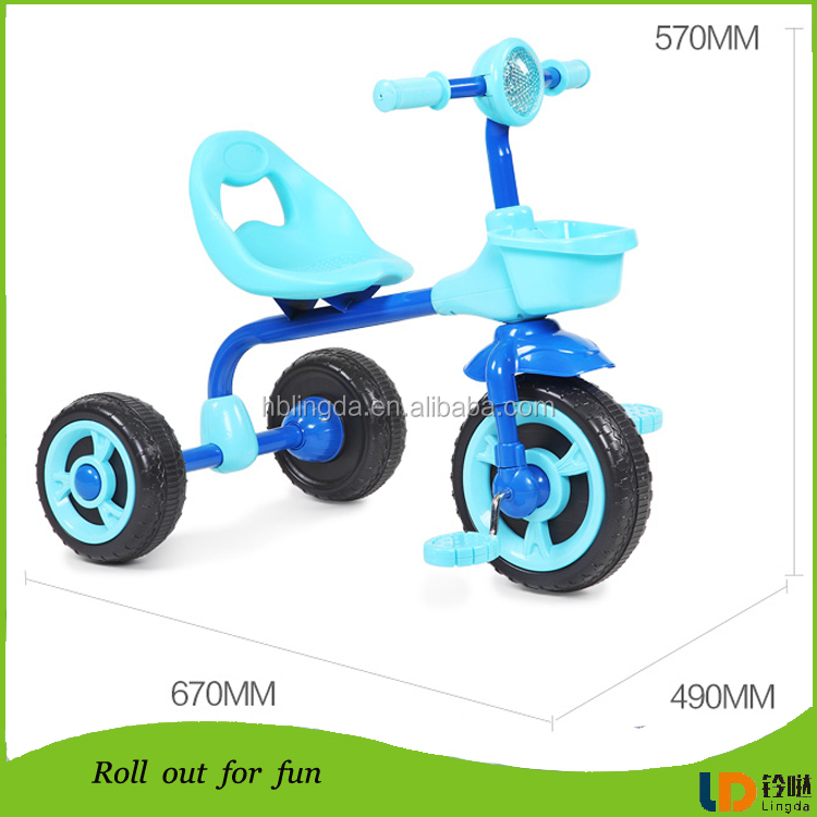 Toys Kids Car Folding Baby Stroller Tricycle With Three Wheels