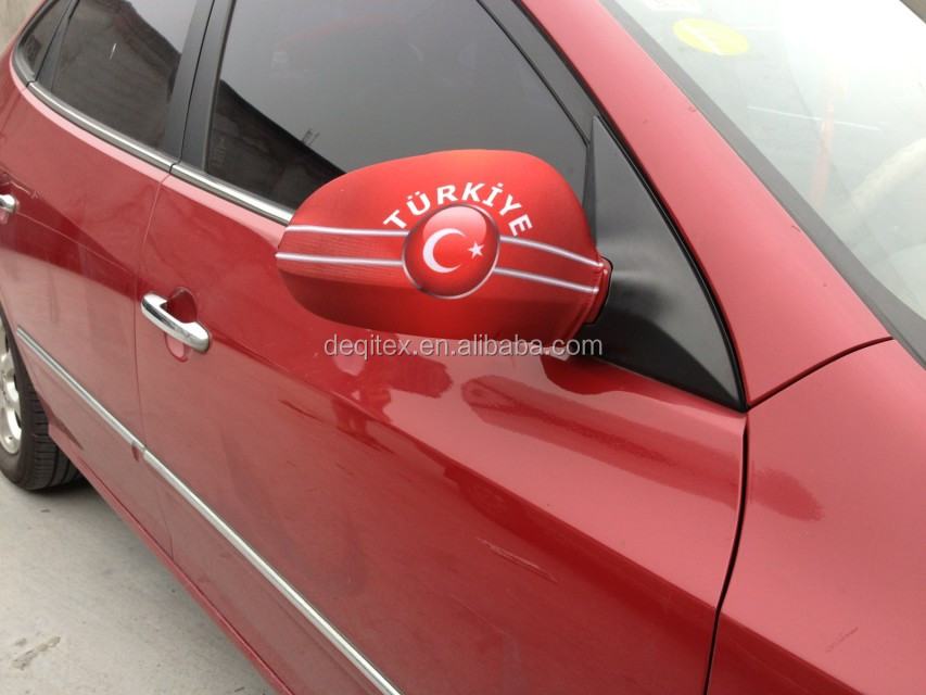 Custom Logo sublimation printing car side mirror flag
