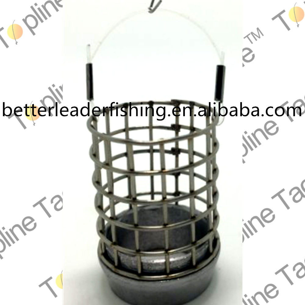 Fishing metal bait cage feeder with various size