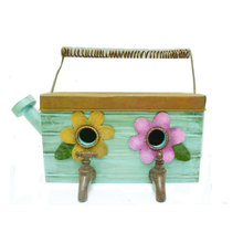 New design two faucets metal Wooden House For Bird