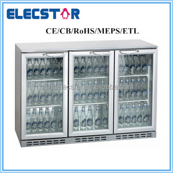 3 door display back bar cooler with Hinged or Sliding Door, with CE/CB/RoHS/MEPS/ETL