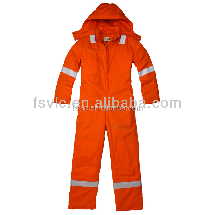 Heavy Duty FR Thermal Coverall W/ Reflective Stripe