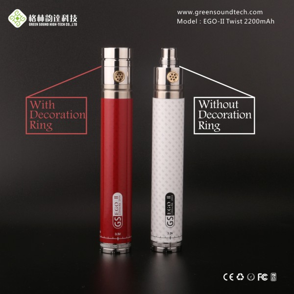 top products hot selling new GS EgoII Twist 2200mah upgraded ego twist battery Variable Voltage 3.3-4.8V
