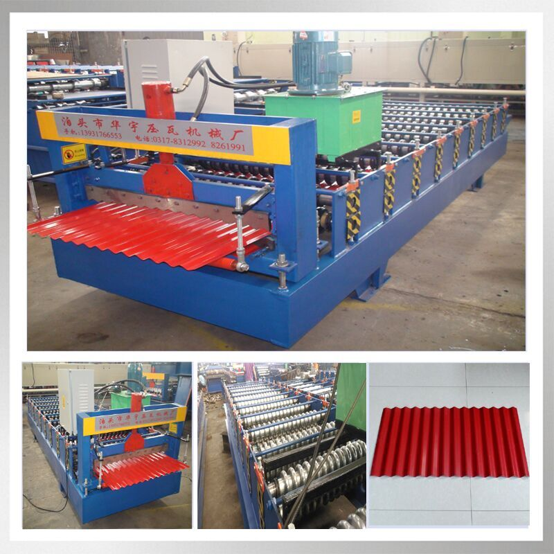 850 Automatic Arched Corrugated Steel Roof Steel Profile Cold Roll Forming Machine