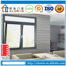 Aluminium tilt and turn window with roller shutter