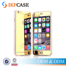 9H Premium Mirror Electroplating Color Tempered Glass Screen Protector For iPhone 4 4S 5 5S SE