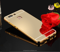 For Huawei P9 Metal Aluminium Frame+ Mirror Back Case Cover