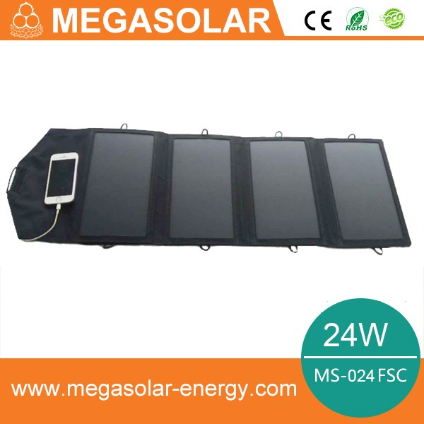24w high efficiency mobile solar charger for camping and outdoor activities