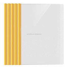 Promotional cheap custom clear document holder pumping rod report cover strip file folder