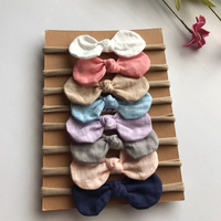 Multicolor Newborn Chiffon fabric Flower Headband,chiffon Rosette Baby Headband,Elastic Lace Hair Band made in China Yiwu