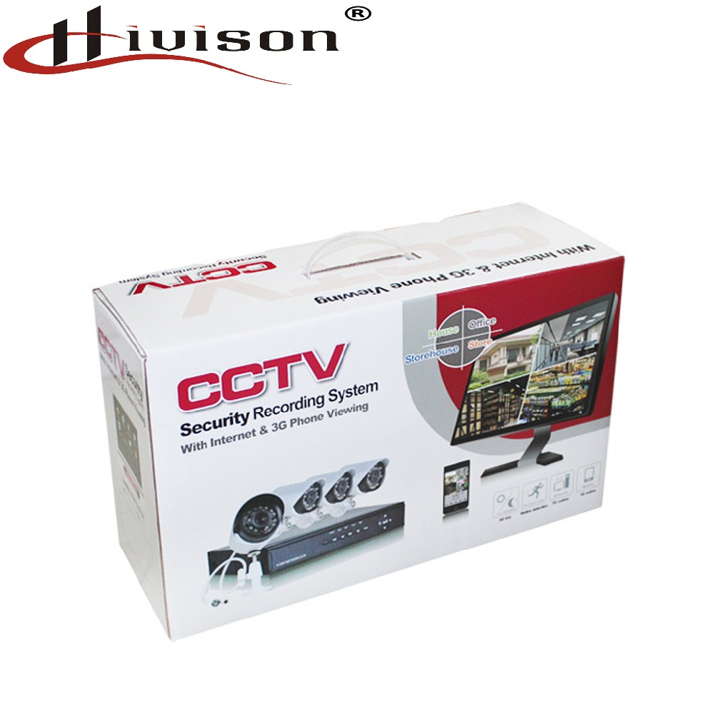 Factory price 700tvl CCTV 4ch Kit survillance waterproof and night vision camera