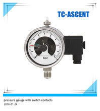 Bourdon tube Pressure Gauge with Switch contacts Stainless steel version TC-G23.100