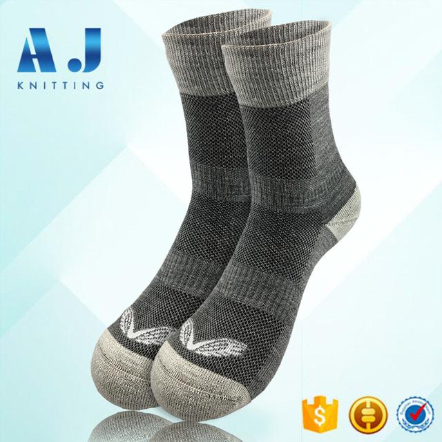 AJ 1753 Custom Men's Merino Wool Cashmere Sport Hiking Socks