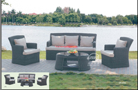 rattan sofa/ 4pcs sale outdoor rattan furniture /outdoor sofa