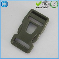 Reliable Supplier Army Green Strong Plastic Double Side Release Buckle