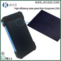 NEW Brand 8000mah Portable solar power bank Ultra-thin Powerbank backup Power solar power bank charger For Smart Phones