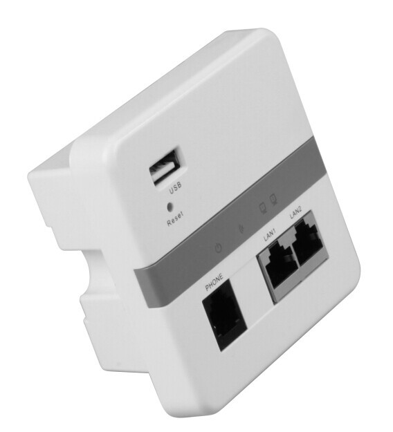 300Mbps wifi wall-mounted access point AP, support POE and WLAN